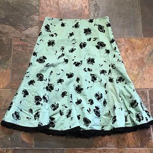 ODILLE anthropologie fluted vintage style skirt